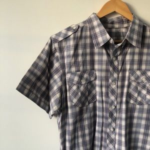 Brody Regular Fit Plaid Short Sleeve Button Down